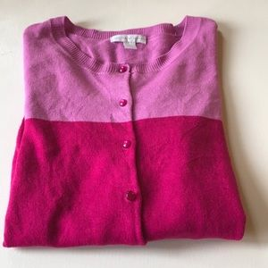Ny&Co Pink Colorblock Cardigan